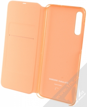 Samsung EF-WA705PW Wallet Cover originální flipové pouzdro pro Samsung Galaxy A70 bílá (white) otevřené