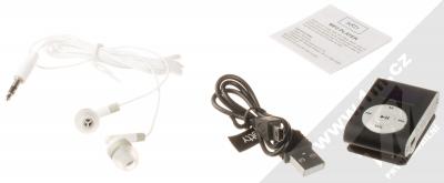 Setty MP3 přehrávač s displejem a sluchátky černá (black) balení