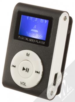 Setty MP3 přehrávač s displejem a sluchátky černá (black) MP3 přehrávač