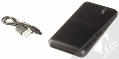 Setty Travel Battery záložní zdroj 10000mAh černí (black) balení