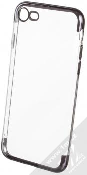 Sligo Plating Soft TPU pokovený ochranný kryt pro Apple iPhone 7, iPhone 8 černá (black)