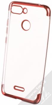 Sligo Plating Soft TPU pokovený ochranný kryt pro Xiaomi Redmi 6 červená (red)