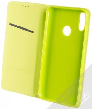Sligo Smart Magnet flipové pouzdro pro Huawei Y7 (2019) limetkově zelená (lime green) otevřené