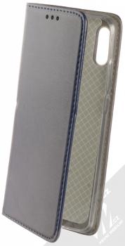 Sligo Smart Magnetic flipové pouzdro pro Huawei Y6 (2019) tmavě modrá (dark blue)