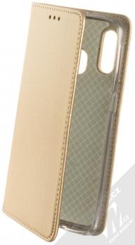 Sligo Smart Magnetic flipové pouzdro pro Samsung Galaxy A40 zlatá (gold)