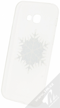 Sligo Trendy Snowflake TPU ochranný kryt s motivem pro Samsung Galaxy A5 (2017) průhledná (transparent) zepředu