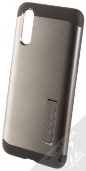 Spigen Slim Armor odolný ochranný kryt se stojánkem pro Huawei P20 kovově šedá (gunmetal)