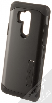 Spigen Slim Armor odolný ochranný kryt se stojánkem pro LG G7 ThinQ černá (black)