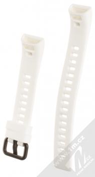Tactical Diagonal Lines Strap silikonový pásek na zápěstí pro Huawei Band 4 Pro bílá (white) zezadu