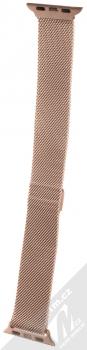 Tactical Milanese Magnetic magnetický pásek z leštěného kovu na zápěstí pro Apple Watch 38mm, Watch 40mm růžově zlatá (rose gold) zezadu