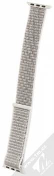 Tactical Nylon Strap textilní pásek na zápěstí pro Apple Watch 38mm, Watch 40mm stříbrná (silver)