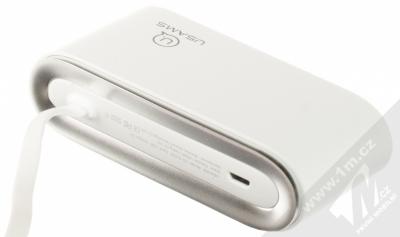 USAMS 4 Ports USB Hub rozbočovač na 4xUSB výstup bílá (white) zezadu