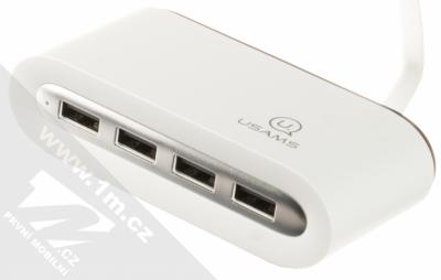 USAMS 4 Ports USB Hub rozbočovač na 4xUSB výstup bílá (white)