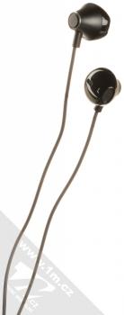 USAMS EP-33 Metal Earphone stereo sluchátka s rozdvojkou USB Type-C konektoru černá (black) sluchátka