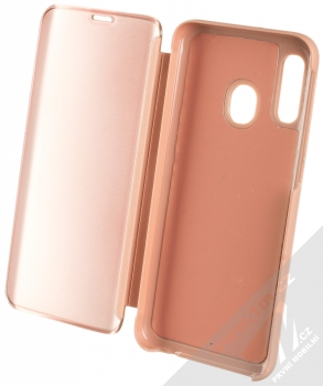 Vennus Clear View flipové pouzdro pro Samsung Galaxy A40 růžová (pink) otevřené