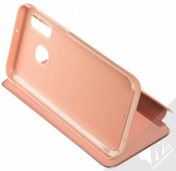 Vennus Clear View flipové pouzdro pro Samsung Galaxy A40 růžová (pink) stojánek