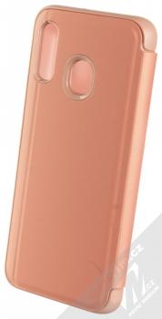 Vennus Clear View flipové pouzdro pro Samsung Galaxy A40 růžová (pink) zezadu