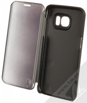 Vennus Clear View flipové pouzdro pro Samsung Galaxy S7 Edge černá (black) otevřené