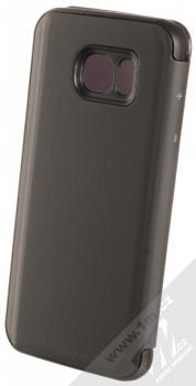 Vennus Clear View flipové pouzdro pro Samsung Galaxy S7 Edge černá (black) zezadu