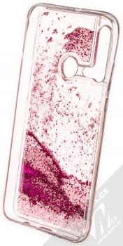 Vennus Liquid Pearl ochranný kryt s přesýpacím efektem třpytek pro Huawei P20 Lite (2019) sytě růžová (hot pink) zepředu