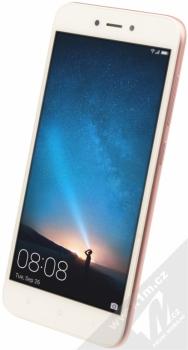 XIAOMI REDMI 5A 2GB/16GB Global Version CZ LTE růžově zlatá (rose gold) šikmo zepředu