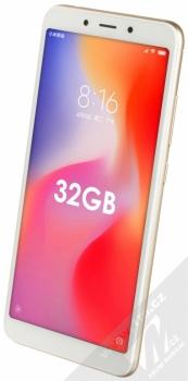 XIAOMI REDMI 6 3GB/32GB Global Version CZ LTE zlatá (gold) šikmo zepředu