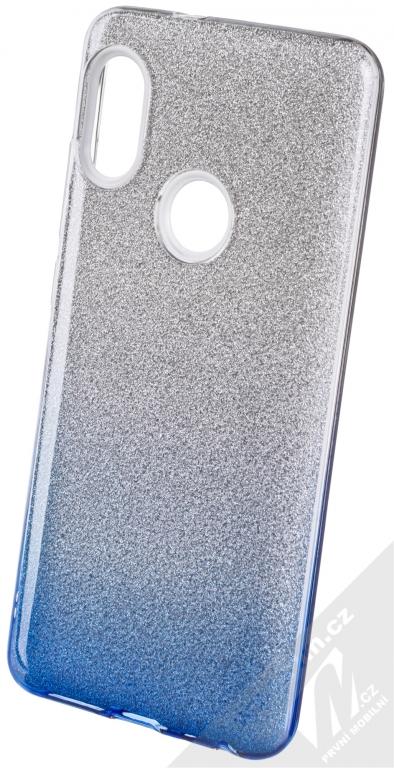 8d9473183 Forcell Shining třpytivý ochranný kryt pro Xiaomi Redmi Note 5 stříbrná  modrá (silver blue)