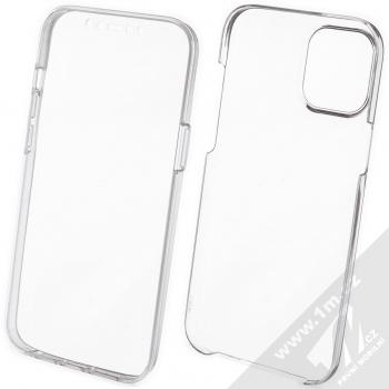 1Mcz 360 Full Cover sada ochranných krytů pro Apple iPhone 12 Pro Max průhledná (transparent)