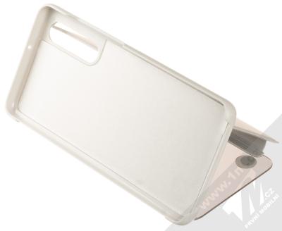 1Mcz Clear View flipové pouzdro pro Huawei P30 stříbrná (silver) stojánek