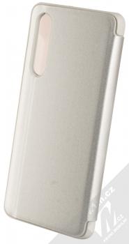 1Mcz Clear View flipové pouzdro pro Huawei P30 stříbrná (silver) zezadu
