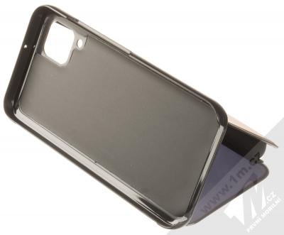 1Mcz Clear View flipové pouzdro pro Huawei P40 Lite černá (black) stojánek