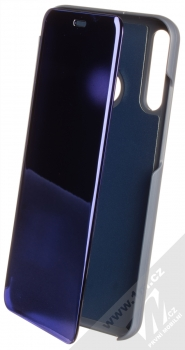 1Mcz Clear View flipové pouzdro pro Huawei P40 Lite E modrá (blue)
