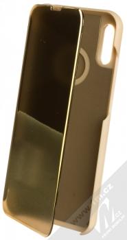 1Mcz Clear View flipové pouzdro pro Huawei Y6 (2019) zlatá (gold)