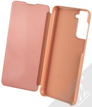 1Mcz Clear View flipové pouzdro pro Samsung Galaxy S21 Plus růžová (pink) otevřené