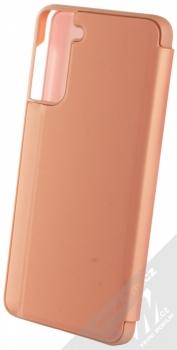 1Mcz Clear View flipové pouzdro pro Samsung Galaxy S21 Plus růžová (pink) zezadu