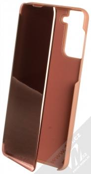 1Mcz Clear View flipové pouzdro pro Samsung Galaxy S21 Plus růžová (pink)