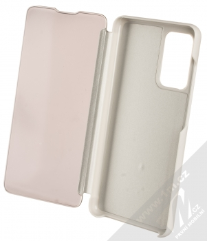 1Mcz Clear View flipové pouzdro pro Samsung Galaxy A52, Galaxy A52 5G stříbrná (silver) otevřené