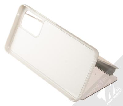 1Mcz Clear View flipové pouzdro pro Samsung Galaxy A52, Galaxy A52 5G stříbrná (silver) stojánek