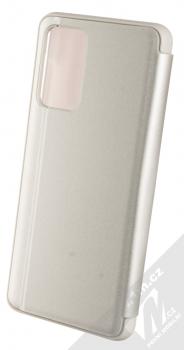 1Mcz Clear View flipové pouzdro pro Samsung Galaxy A52, Galaxy A52 5G stříbrná (silver) zezadu