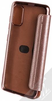 1Mcz Electro Book flipové pouzdro pro Samsung Galaxy A41 růžově zlatá (rose gold) zezadu
