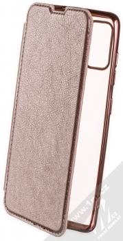 1Mcz Electro Book flipové pouzdro pro Samsung Galaxy A41 růžově zlatá (rose gold)