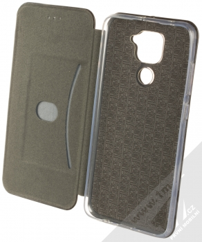 1Mcz Elegance Book flipové pouzdro pro Xiaomi Redmi Note 9 černá (black) otevřené