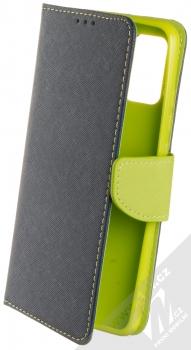 1Mcz Fancy Book flipové pouzdro pro Samsung Galaxy A02s modrá limetkově zelená (blue lime)