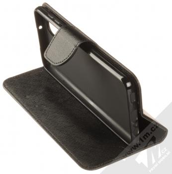 1Mcz Fancy Book flipové pouzdro pro Samsung Galaxy A12 černá (black) stojánek