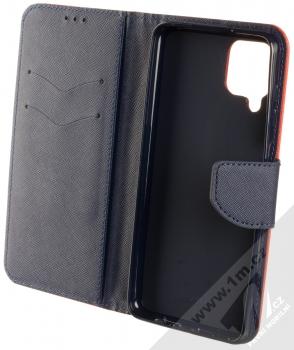 1Mcz Fancy Book flipové pouzdro pro Samsung Galaxy A12 červená modrá (red blue) otevřené