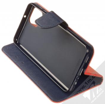 1Mcz Fancy Book flipové pouzdro pro Samsung Galaxy A12 červená modrá (red blue) stojánek
