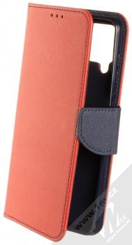 1Mcz Fancy Book flipové pouzdro pro Samsung Galaxy A12 červená modrá (red blue)