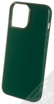 1Mcz Jelly TPU ochranný kryt pro Apple iPhone 13 Pro Max tmavě zelená (forest green)