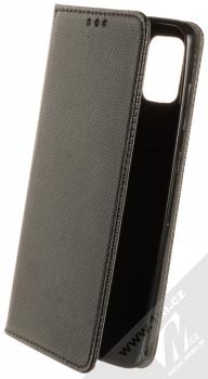 1Mcz Magnet Book Color flipové pouzdro pro Samsung Galaxy A21s černá (black)