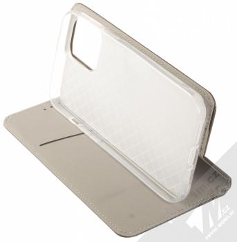 1Mcz Magnet Book flipové pouzdro pro Apple iPhone 12 Pro Max černá (black) stojánek